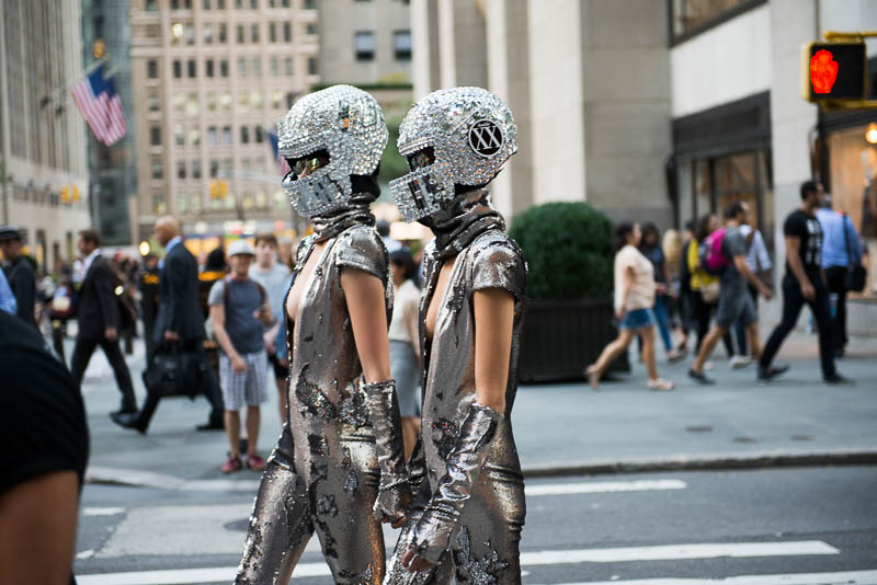 Sexy Fashion Week NY Androids